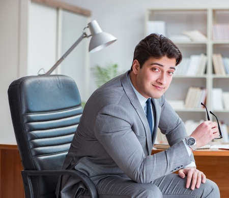 Young businessman working in the office Stok Fotoğraf