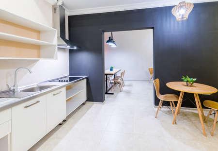 Modern kitchen interior at home Stock Photo