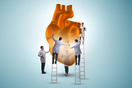 Heart examination by a team of doctors Standard-Bild