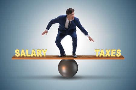 Equilibrio entre impuestos y salario de empresario