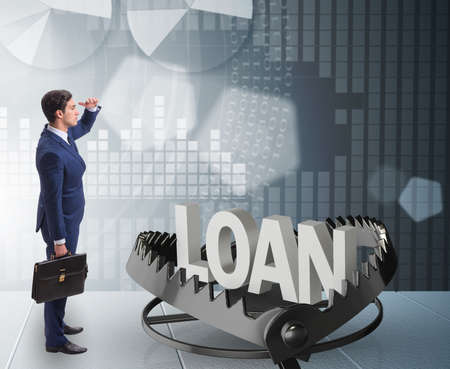 The businessman falling into the trap of loan credit