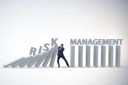 Businessman in risk management concept