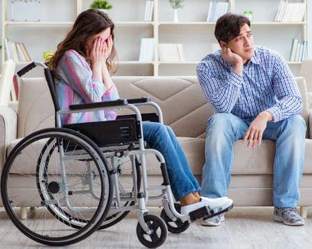 Desperate disabled person on wheelchair Reklamní fotografie