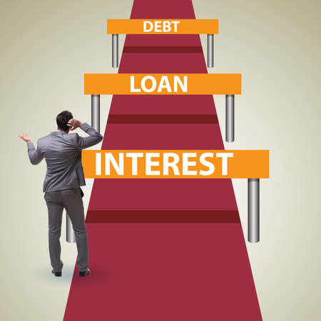Concept of the debt and loan in business running