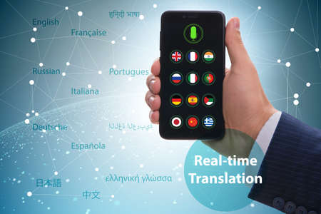 The concept of real time translation with smartphone app