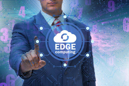 Fog and edge cloud computing concept