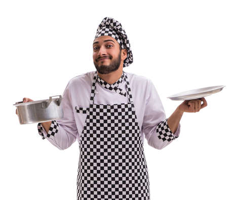 Male cook isolated on the white background Stock fotó