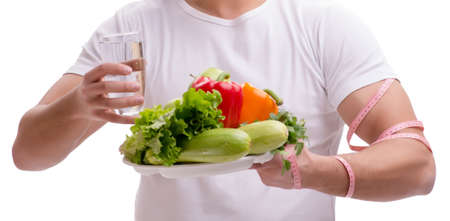 Man in healthy eating concept Stock Photo