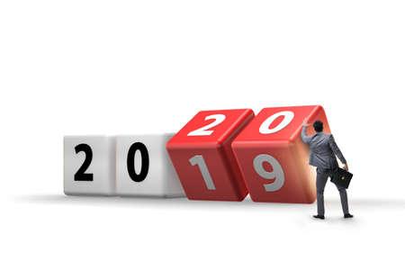 Concepto de cambio de año de 2019 a 2020 Foto de archivo