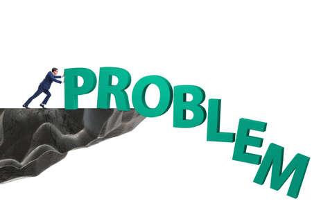 Businessman in problem solving concept
