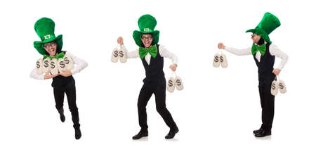 Funny man in saint patrick holiday concept Banque d'images - 131876871