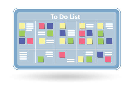 Concept of to do list isolated on white