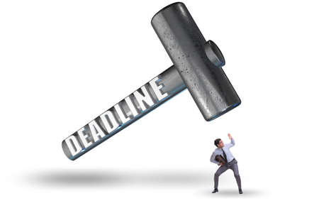 Businessman failing to meet the deadline Reklamní fotografie