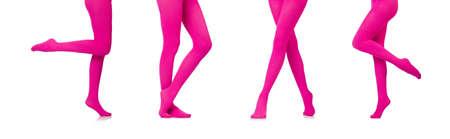 Woman legs in long stockings Stockfoto