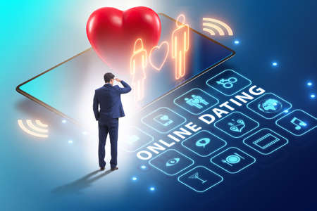 Concept of online dating and matching