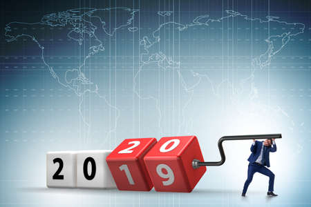 Concept of new year of 2020