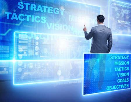 Businessman in strategic planning concept Foto de archivo