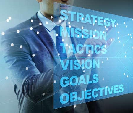 Homme d'affaires dans le concept de planification stratégique