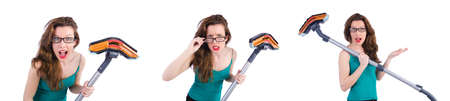 Woman doing housekeeping stuff at home Stock Photo
