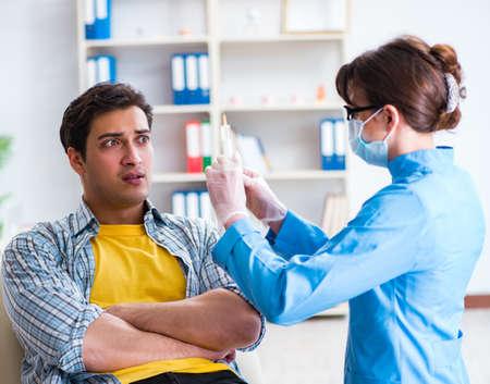 Patient afraid of dentist during doctor visit