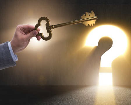 Concept with key to success illustration