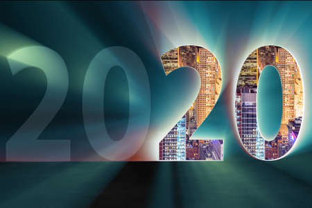 New year concept of the 2020 - 3d rendering