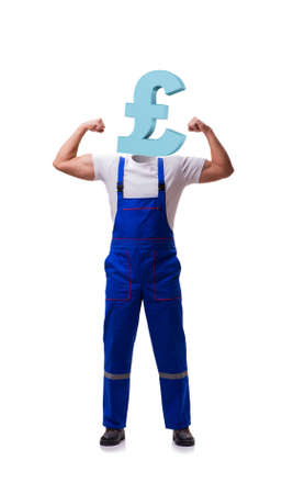 Worker with yen head in business concept
