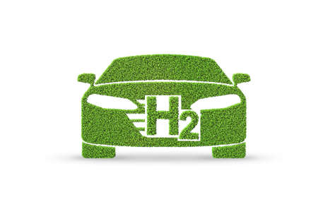 Concept de voiture à hydrogène - rendu 3D Banque d'images