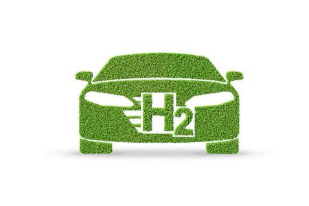 Wasserstoffautokonzept - 3D-Rendering Standard-Bild