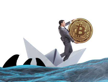Businessman rowing on dollar boat in business financial concept Banque d'images - 132766671