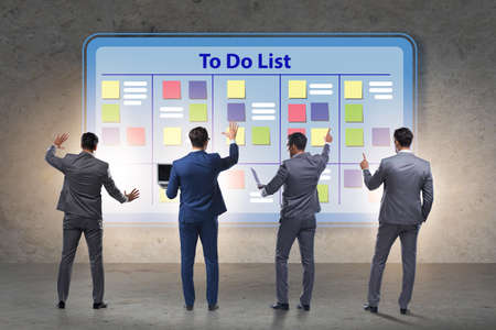 Concept of to do list with businessman Stock Photo