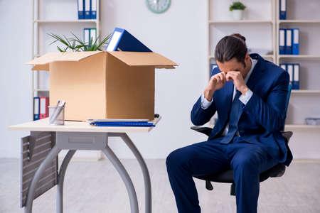Young employee being made redundant Фото со стока