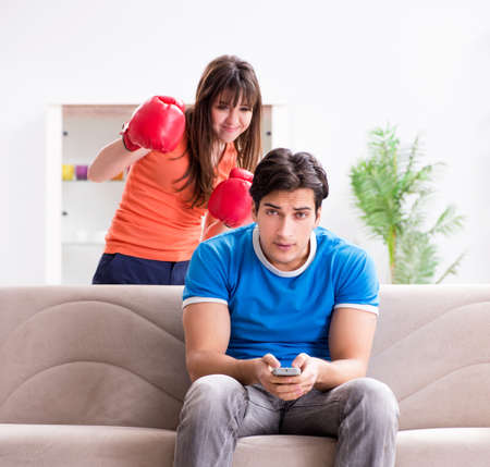 Wife unhappy that husband is watching boxing