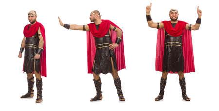 Gladiator isolated on white background Reklamní fotografie
