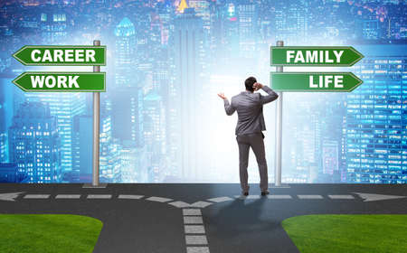Work life or home balance business concept