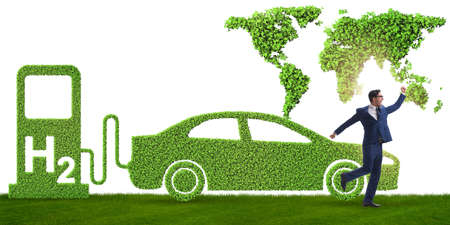 Hydrogen car concept in ecological transportation concept