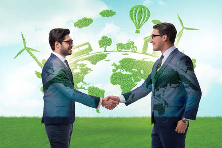 Paris agreement concept in ecology and environment
