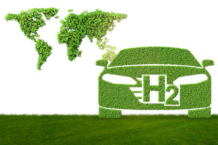 Hydrogen car concept in ecological transportation concept Stockfoto - 133917890