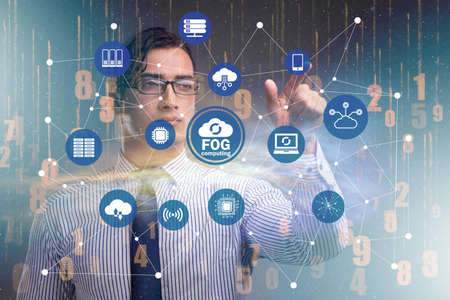Fog and edge cloud computing concept 스톡 콘텐츠