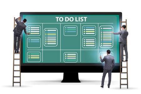 Concept of to do list with businessman Banco de Imagens