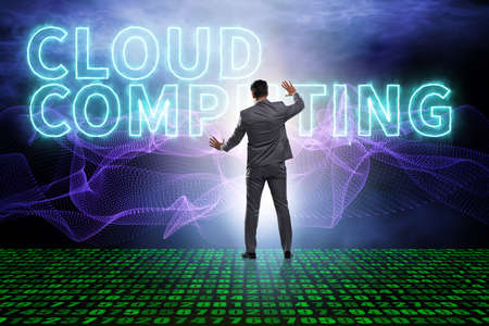 Concept of cloud edge and fog computing 스톡 콘텐츠