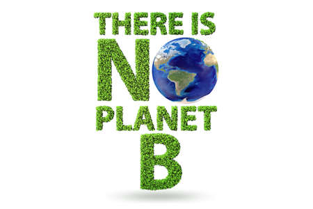 Ecological concept - there is no planet b - 3d rendering Banco de Imagens
