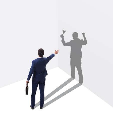 Businessman in great achievement concept