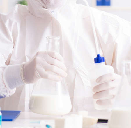 The food scientist testing new stuff in the lab