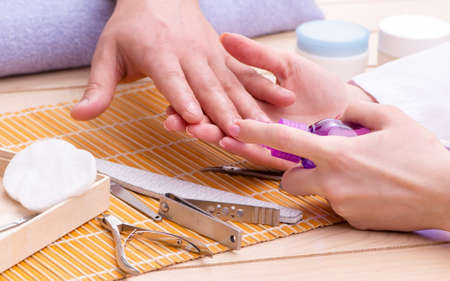 The hand manicure concept for man