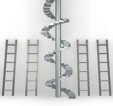 The different ladders in career progression concept