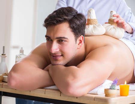 Man in spa enjoying his time