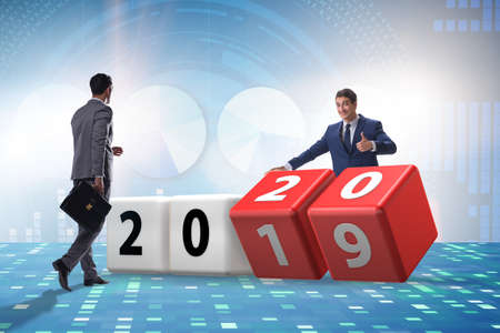 Concept of changing year from 2019 to 2020 Standard-Bild