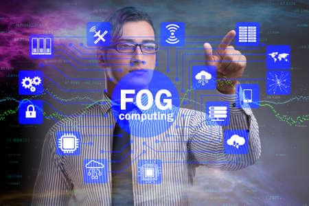 Fog and edge cloud computing concept Stock Photo