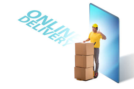 Concept of delivery of online purchases